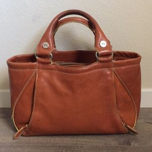 Cole Haan  Village caramel brown leather handbag